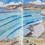 Sketch of Col-Huw Point, Llantwit Major