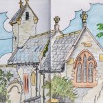 Sketch of Macross Church, Llantwit Major