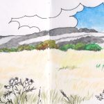 Large Meadow from the Blackthorn Rampart by artist Martin Kaye