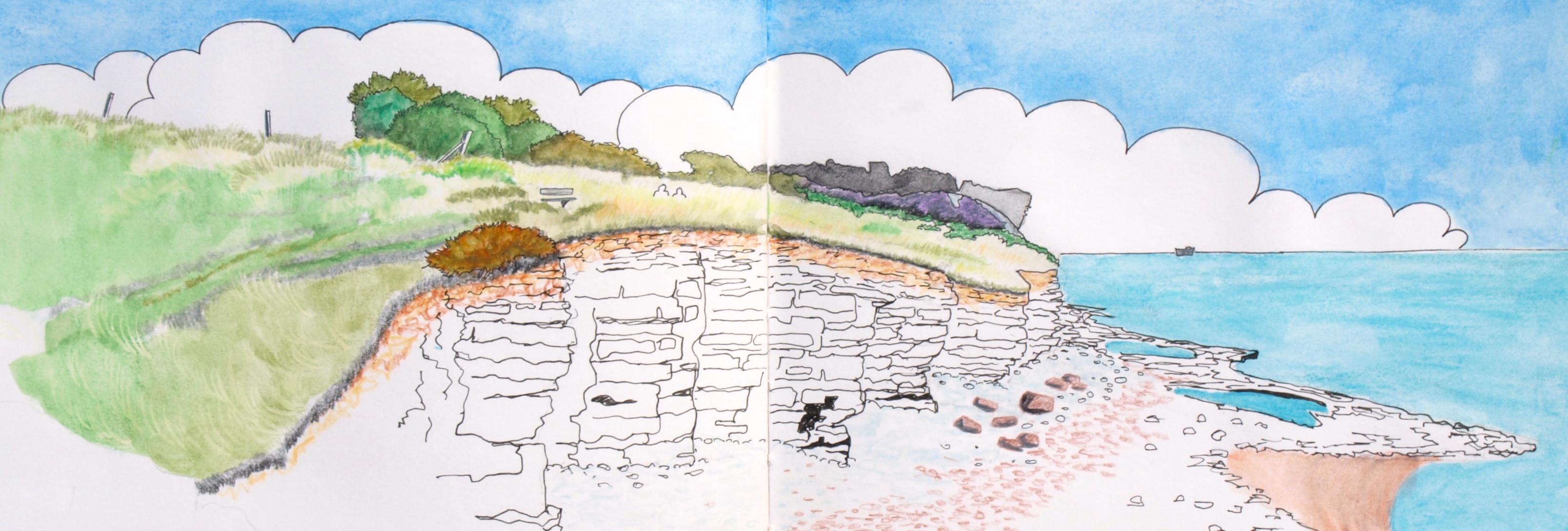 Dim Hole on the Heritage Coast by artist Martin Kaye