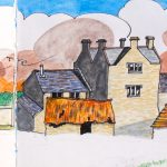 The Great House in Llantwit Major by artist Martin Kaye