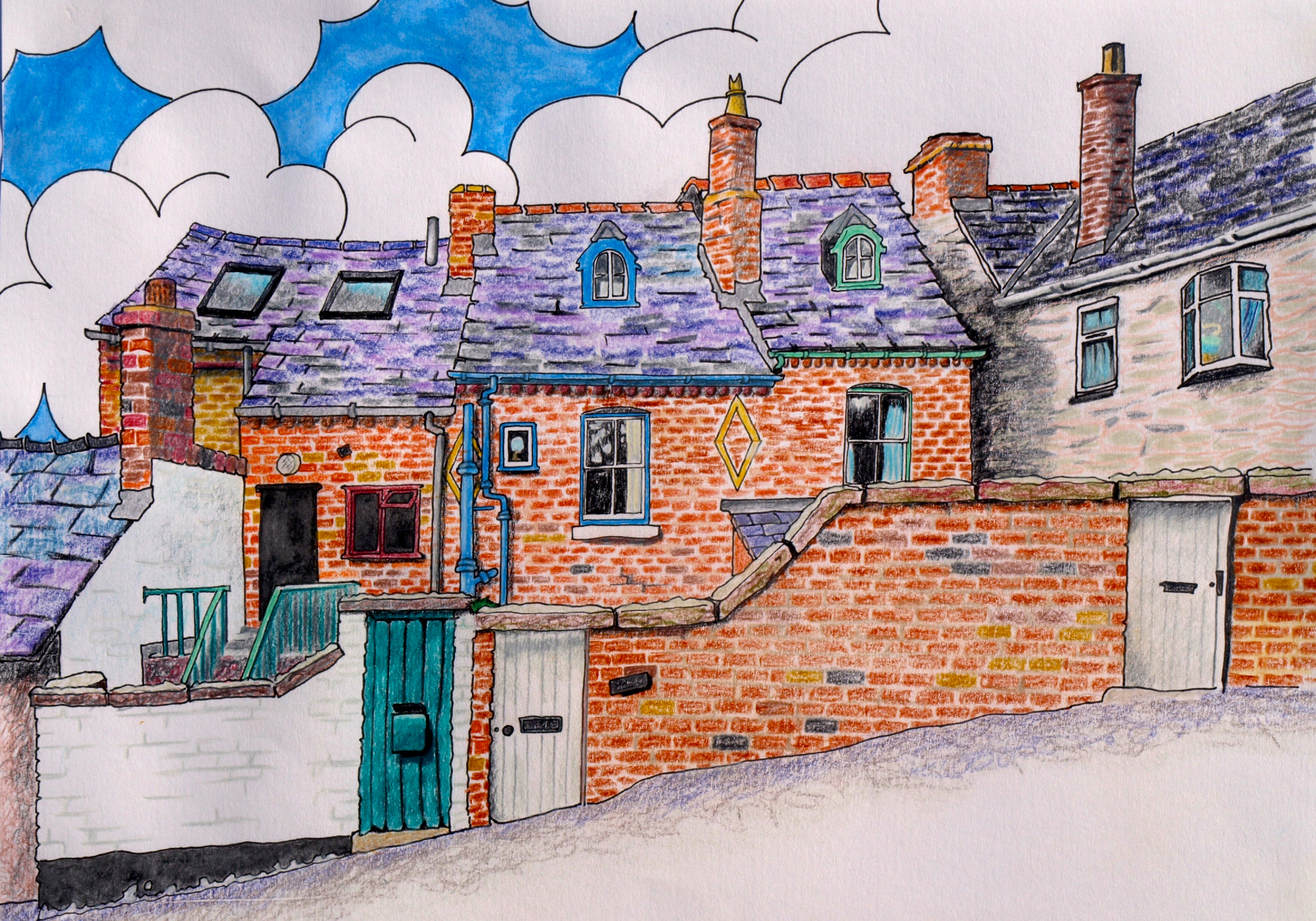 Sketch of Upper Clwyd Street