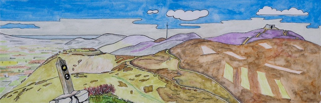 Moel Famau and the Clwydian Hills